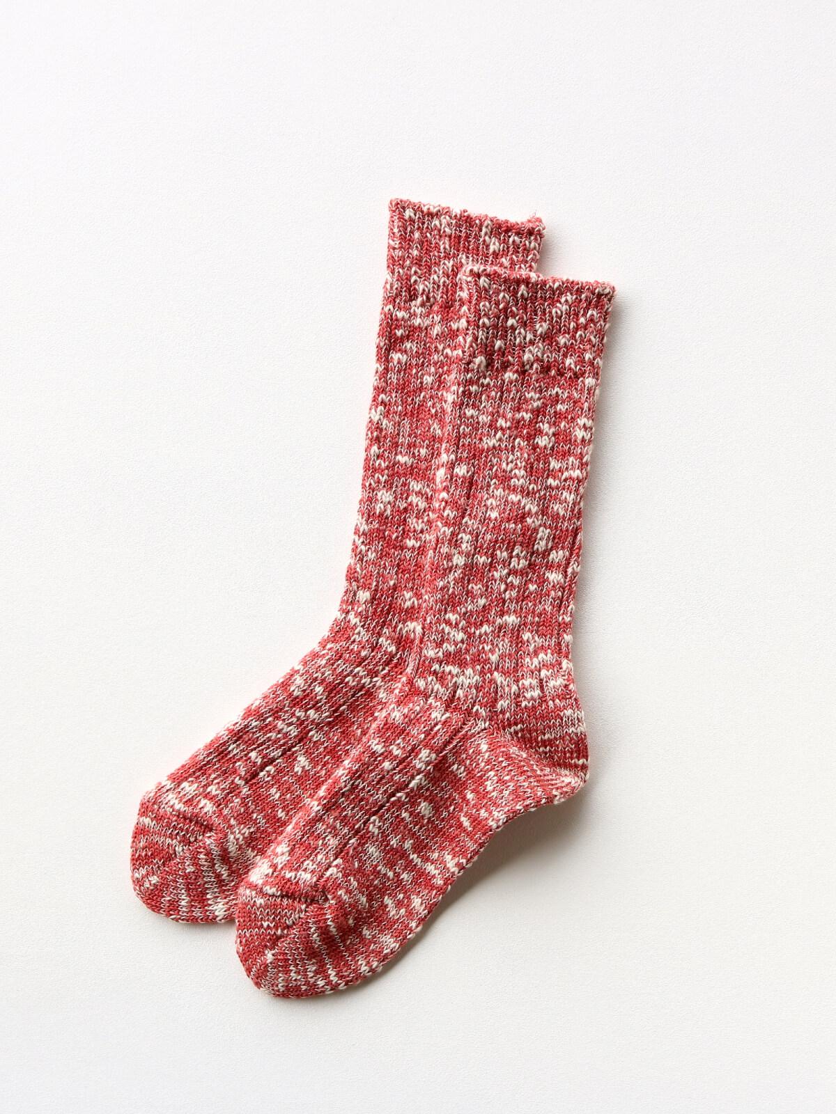 当たりつきギフト専用靴下のLUCKY SOCKS(ラッキーソックス)のMix Rib Socks(ミックスリブソックス)のブラッドオレンジ_2