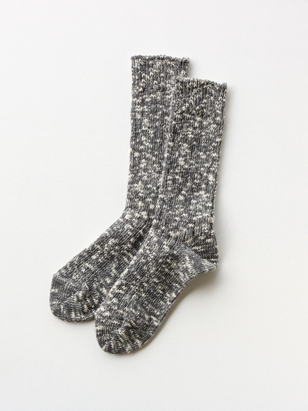 当たりつきギフト専用靴下のLUCKY SOCKS(ラッキーソックス)のMix Rib Socks(ミックスリブソックス)のダークグレー_2
