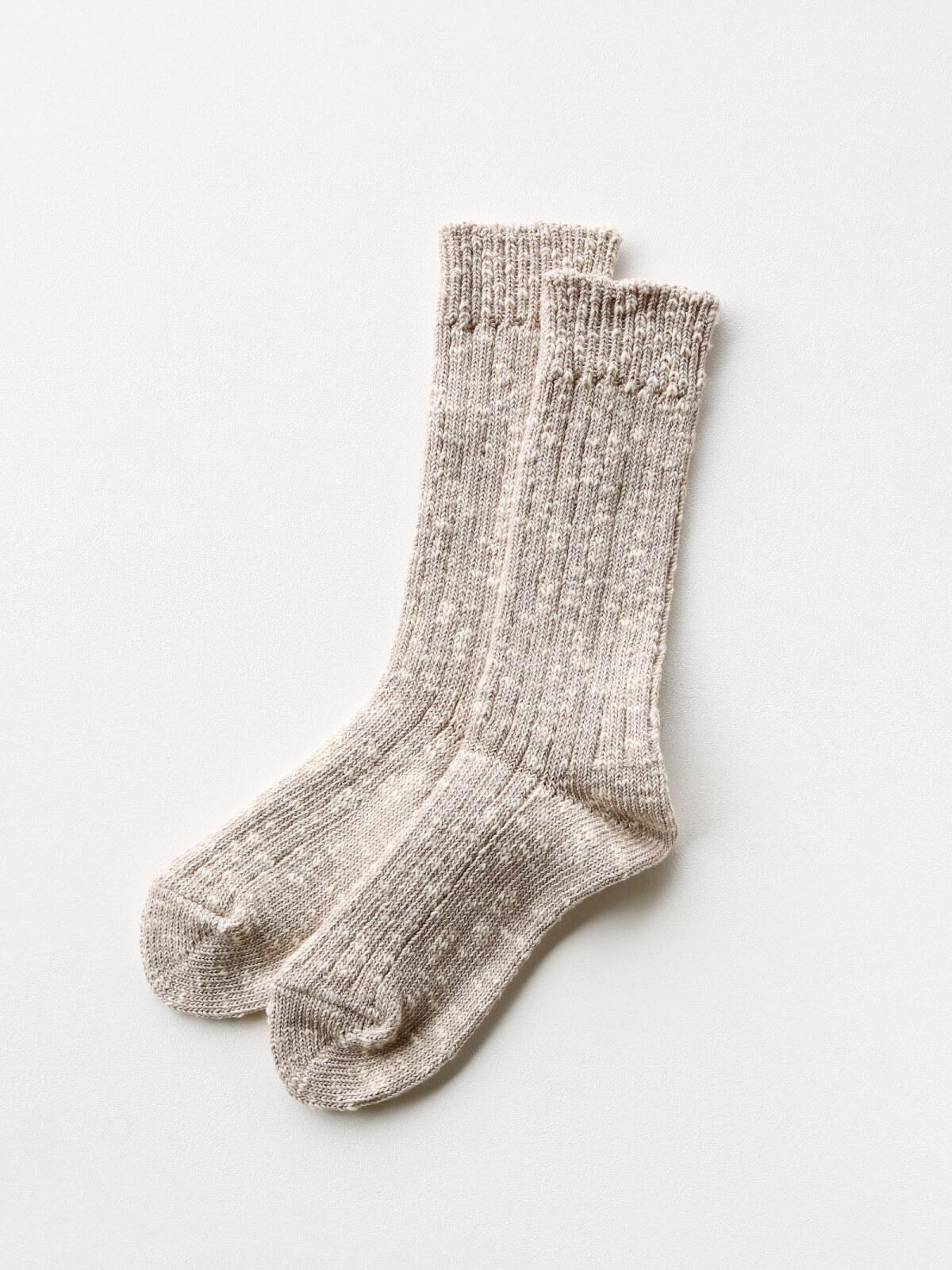 当たりつきギフト専用靴下のLUCKY SOCKS(ラッキーソックス)のMix Rib Socks(ミックスリブソックス)のグレージュ_2