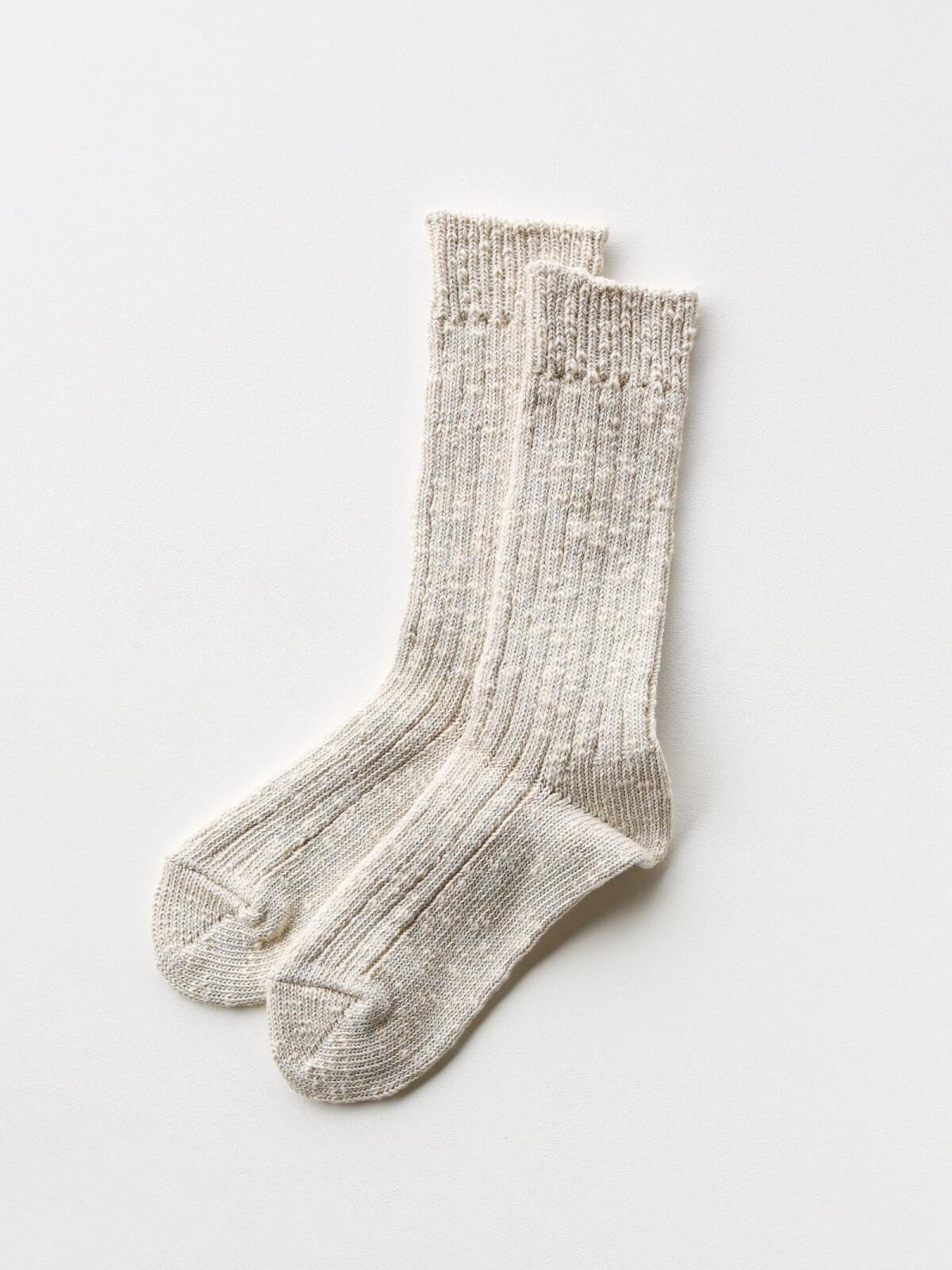 当たりつきギフト専用靴下のLUCKY SOCKS(ラッキーソックス)のMix Rib Socks(ミックスリブソックス)のアイボリー_2