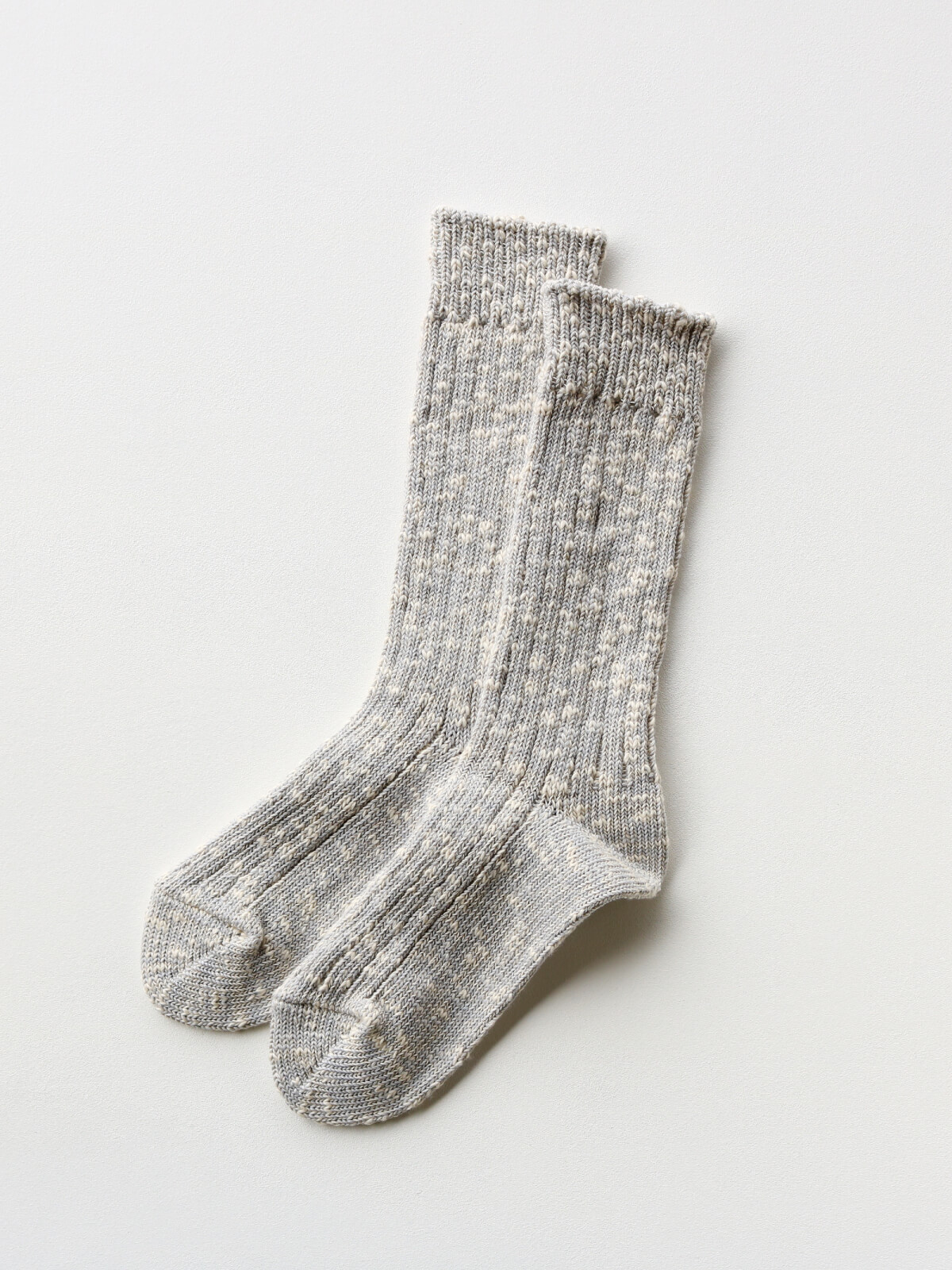 当たりつきギフト専用靴下のLUCKY SOCKS(ラッキーソックス)のMix Rib Socks(ミックスリブソックス)のライトグレー_2