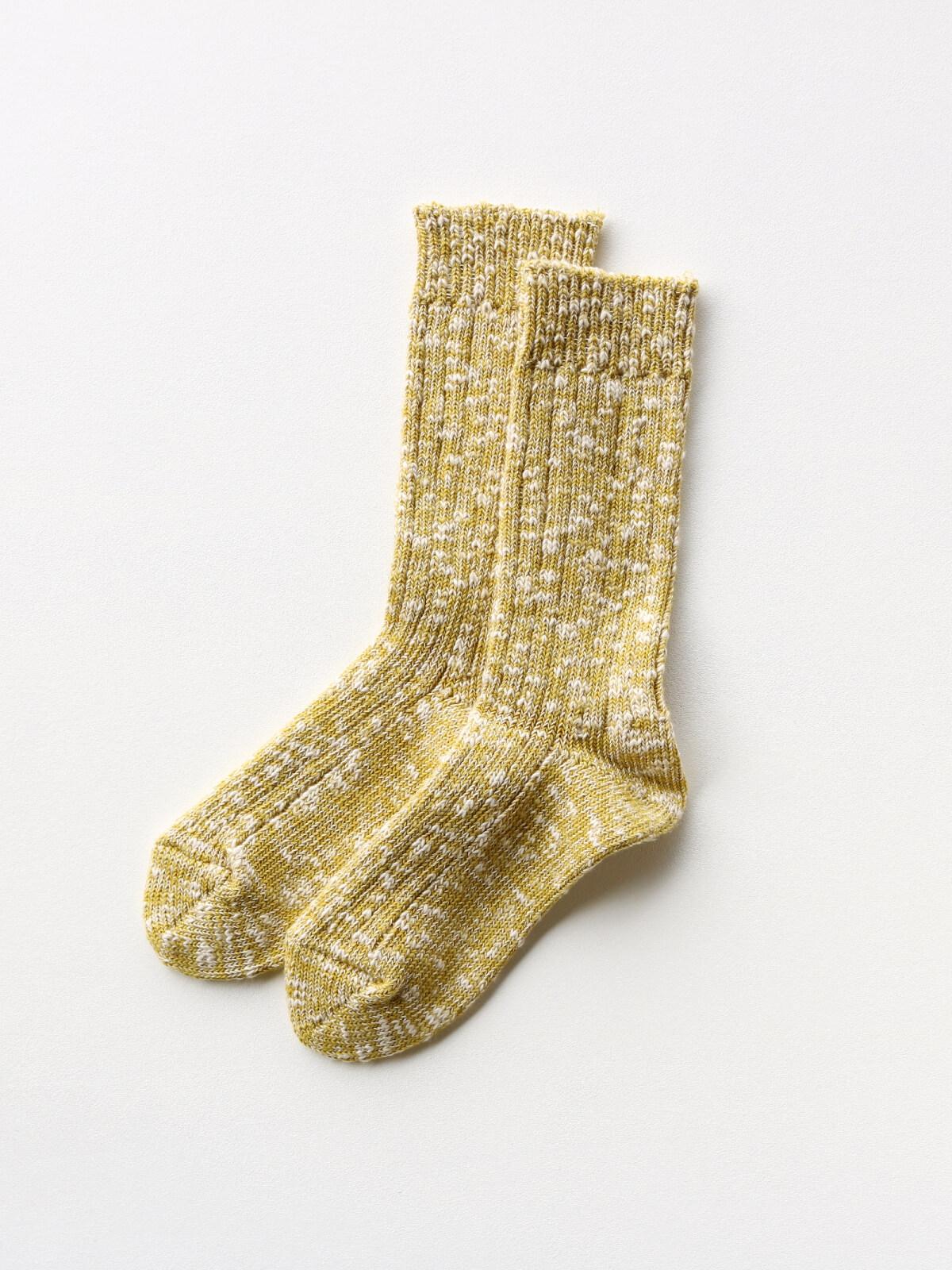 当たりつきギフト専用靴下のLUCKY SOCKS(ラッキーソックス)のMix Rib Socks(ミックスリブソックス)のライムイエロー_2