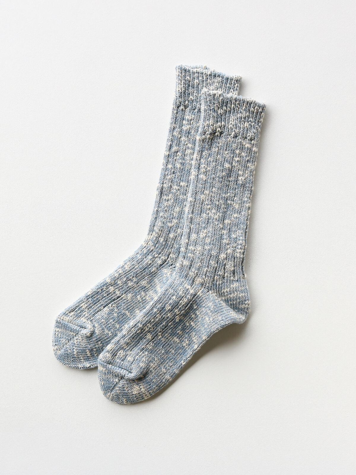 当たりつきギフト専用靴下のLUCKY SOCKS(ラッキーソックス)のMix Rib Socks(ミックスリブソックス)のスチールブルー_2