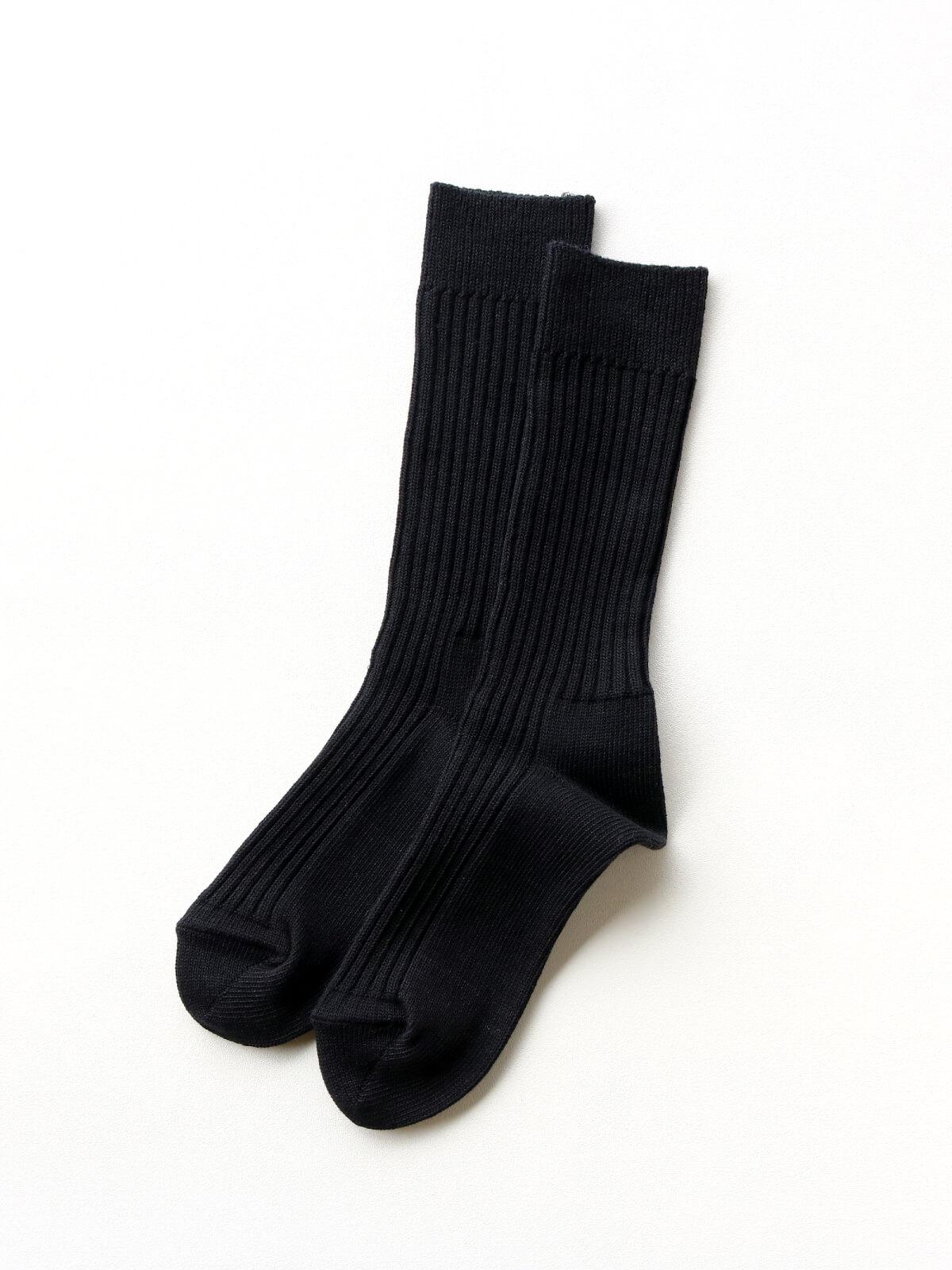 当たりつきギフト専用靴下のLUCKY SOCKS(ラッキーソックス)のSmooth Rib Socks(スムースリブソックス)のブラック_2