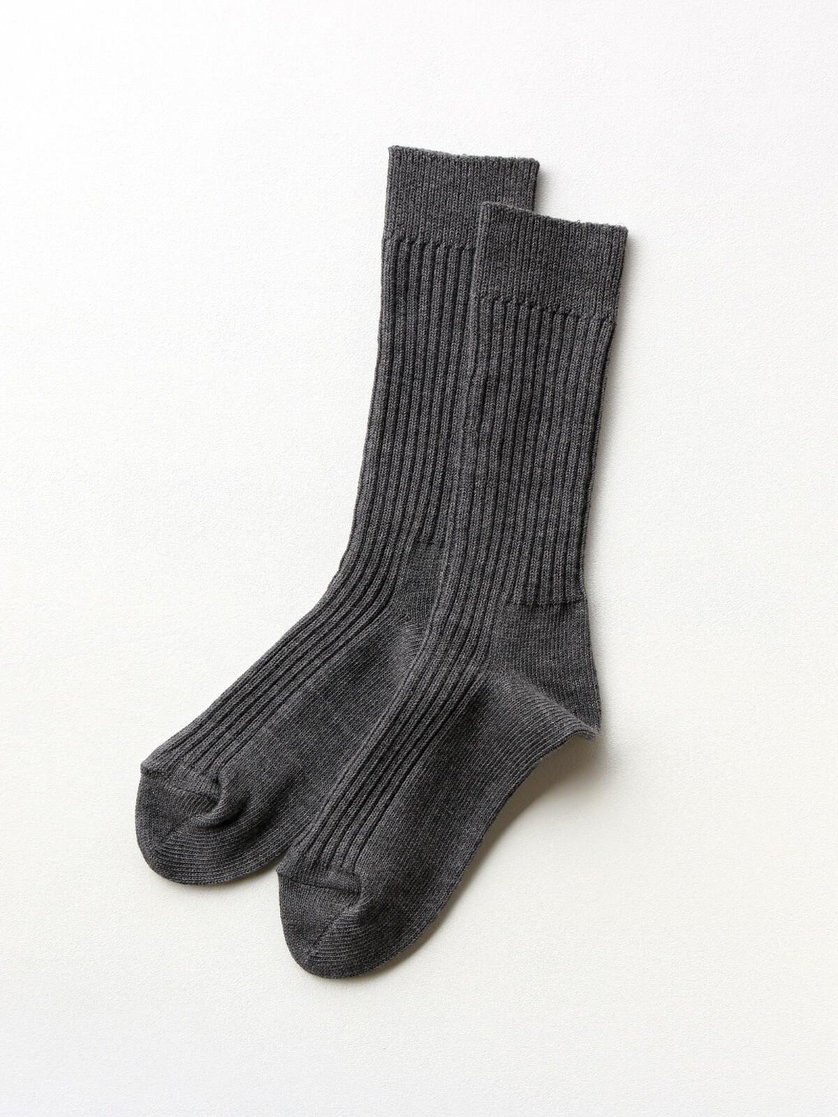 当たりつきギフト専用靴下のLUCKY SOCKS(ラッキーソックス)のSmooth Rib Socks(スムースリブソックス)のダークグレー_2