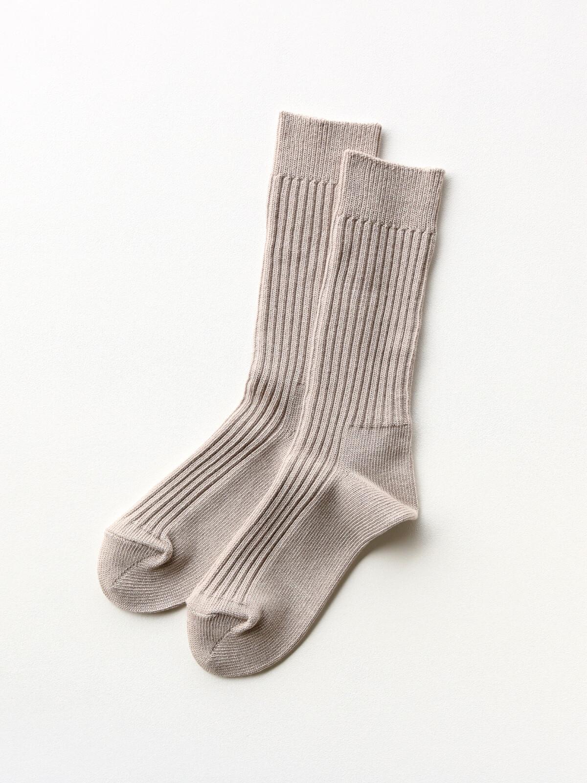 当たりつきギフト専用靴下のLUCKY SOCKS(ラッキーソックス)のSmooth Rib Socks(スムースリブソックス)のグレージュ_2