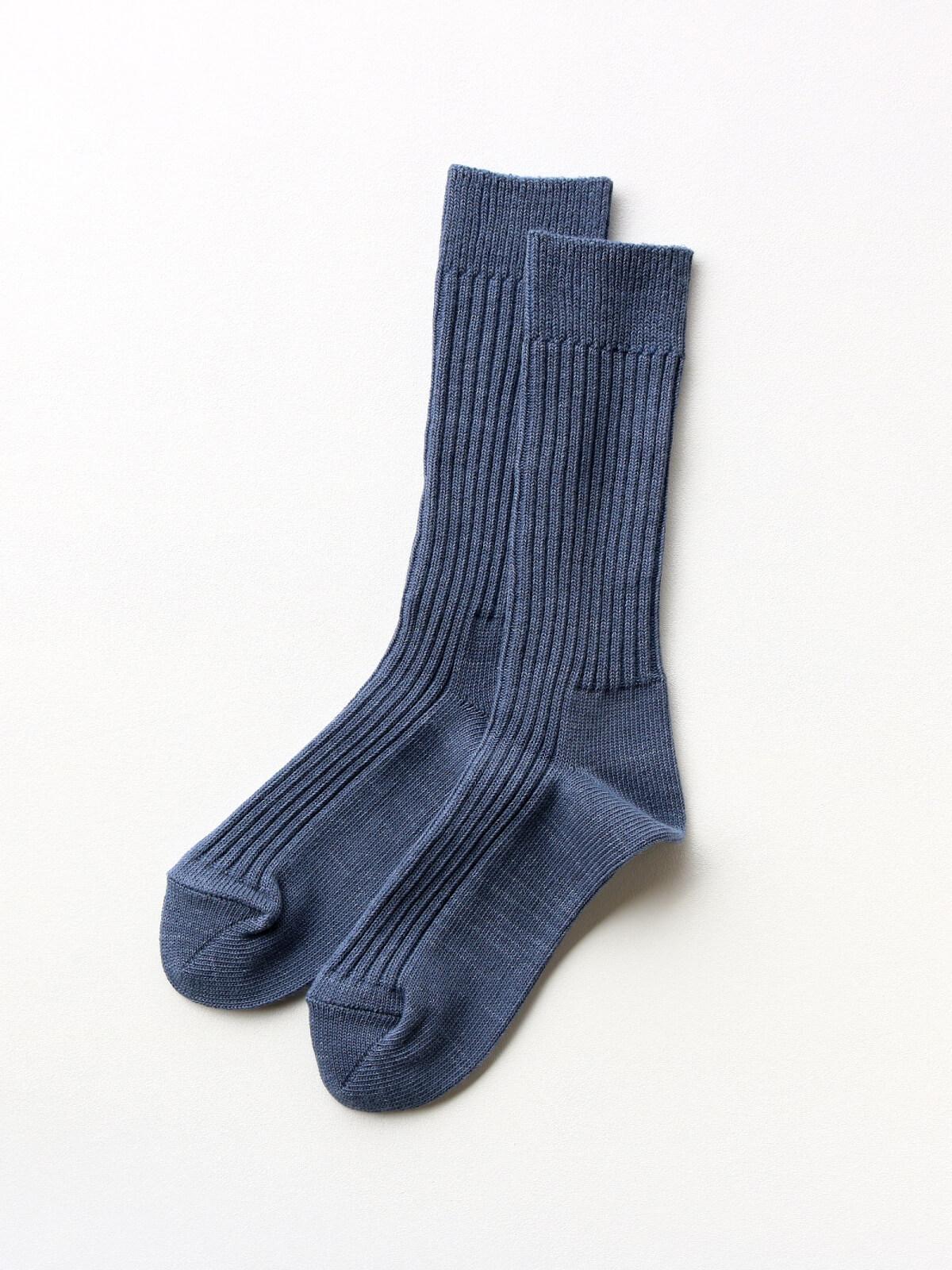 当たりつきギフト専用靴下のLUCKY SOCKS(ラッキーソックス)のSmooth Rib Socks(スムースリブソックス)のインディゴ_2