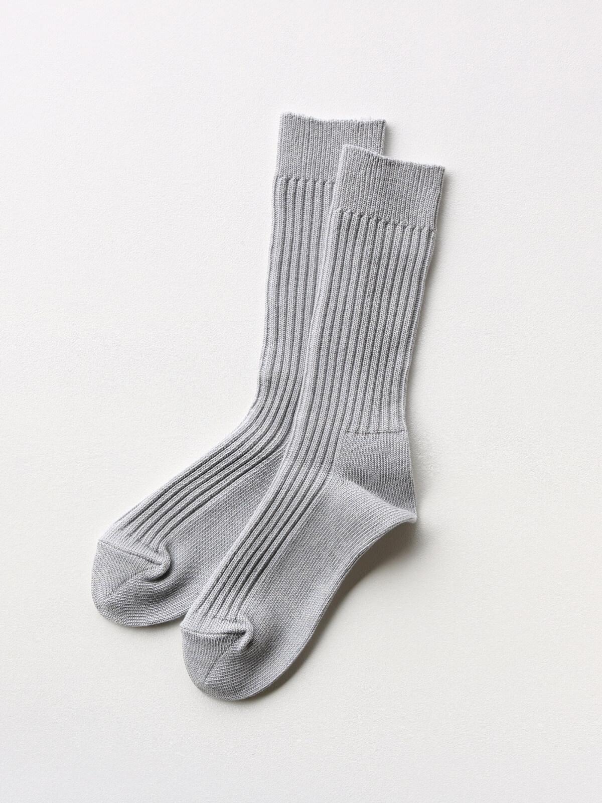 当たりつきギフト専用靴下のLUCKY SOCKS(ラッキーソックス)のSmooth Rib Socks(スムースリブソックス)のライトグレー_2