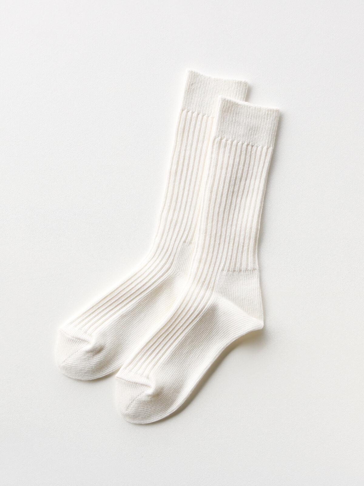 当たりつきギフト専用靴下のLUCKY SOCKS(ラッキーソックス)のSmooth Rib Socks(スムースリブソックス)のオフホワイト_2