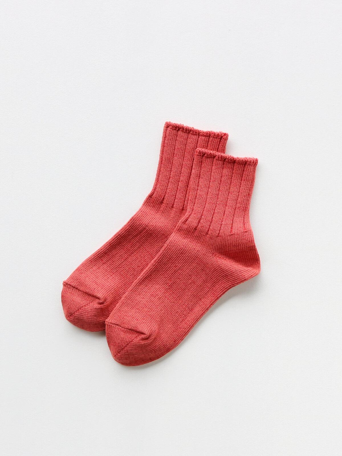 当たりつきギフト専用靴下のLUCKY SOCKS(ラッキーソックス)のSmooth Ankle Socks(スムースアンクルソックス)のブラッドオレンジ_2