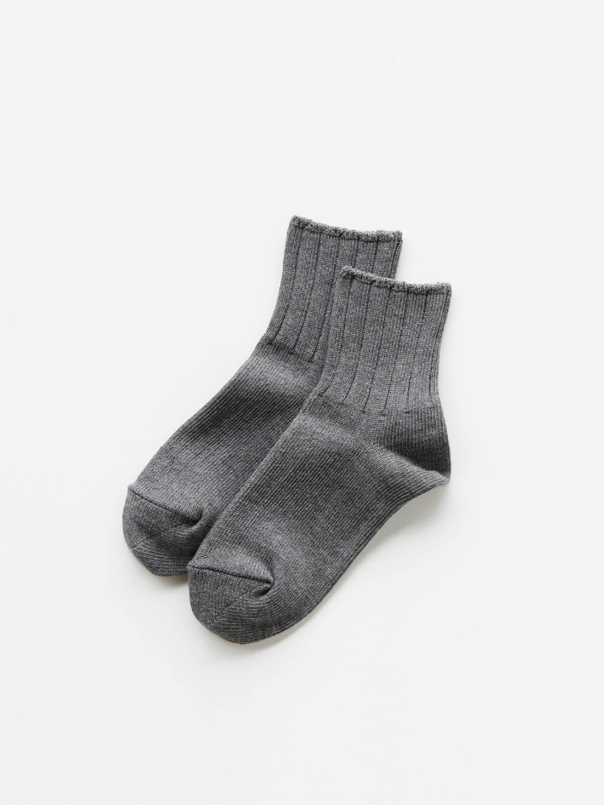 当たりつきギフト専用靴下のLUCKY SOCKS(ラッキーソックス)のSmooth Ankle Socks(スムースアンクルソックス)のダークグレー_2
