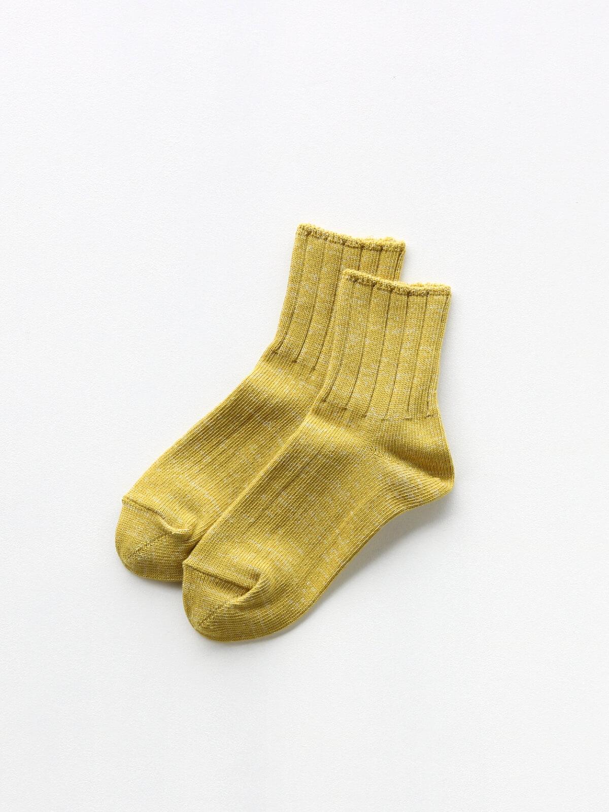 当たりつきギフト専用靴下のLUCKY SOCKS(ラッキーソックス)のSmooth Ankle Socks(スムースアンクルソックス)のライムイエロー_2