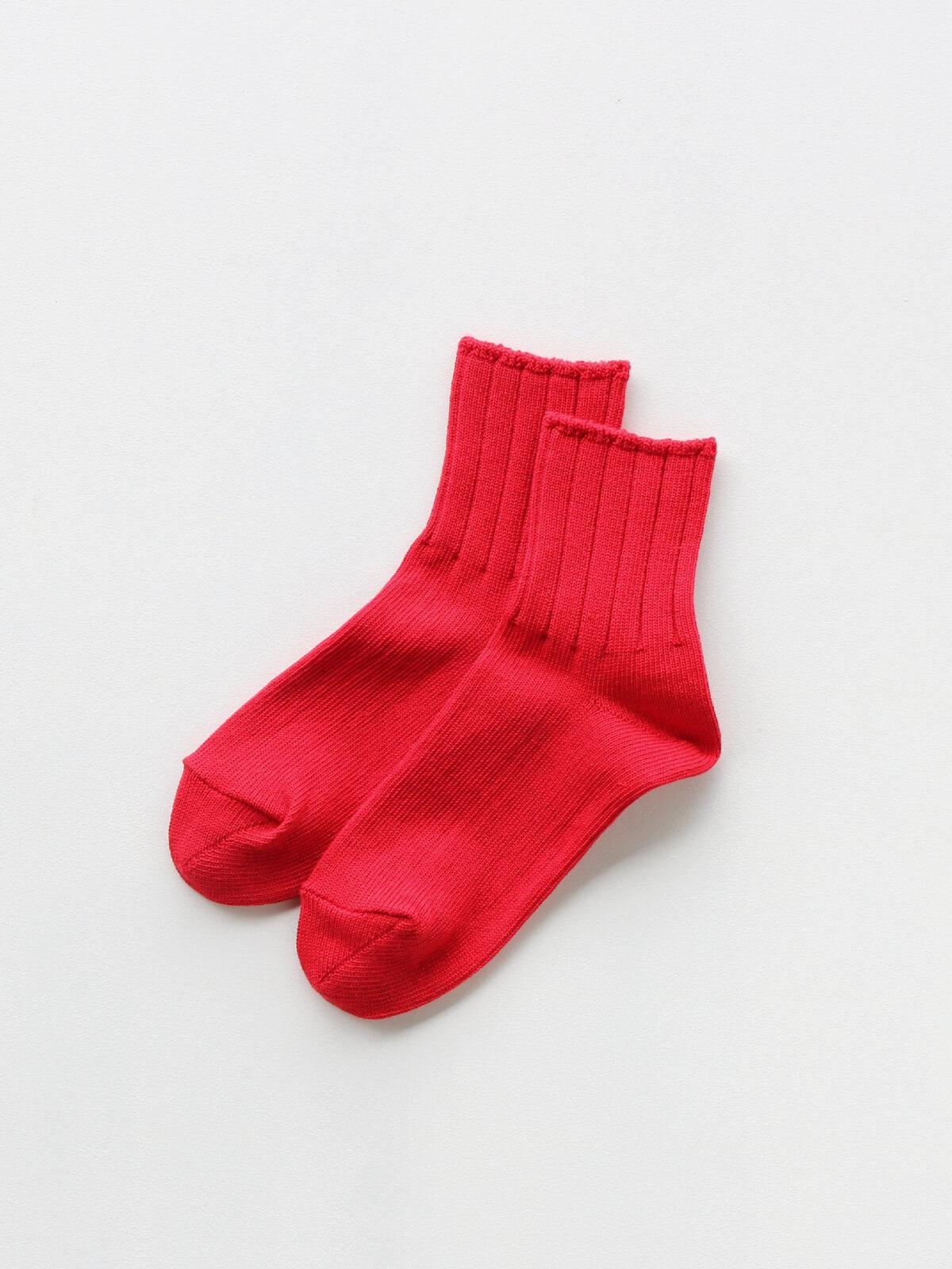 当たりつきギフト専用靴下のLUCKY SOCKS(ラッキーソックス)のSmooth Ankle Socks(スムースアンクルソックス)のレッド_2