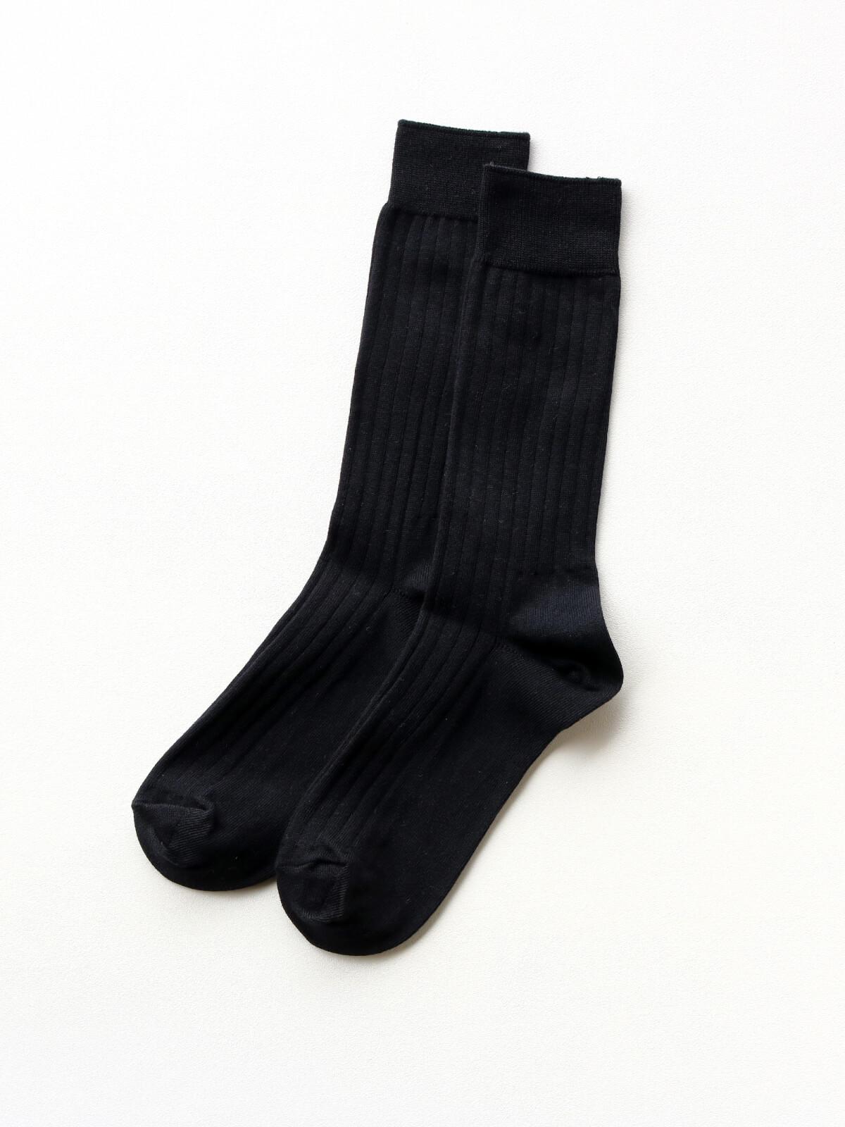 当たりつきギフト専用靴下のLUCKY SOCKS(ラッキーソックス)のLight Rib Socks(ライトリブソックス)のブラック_2