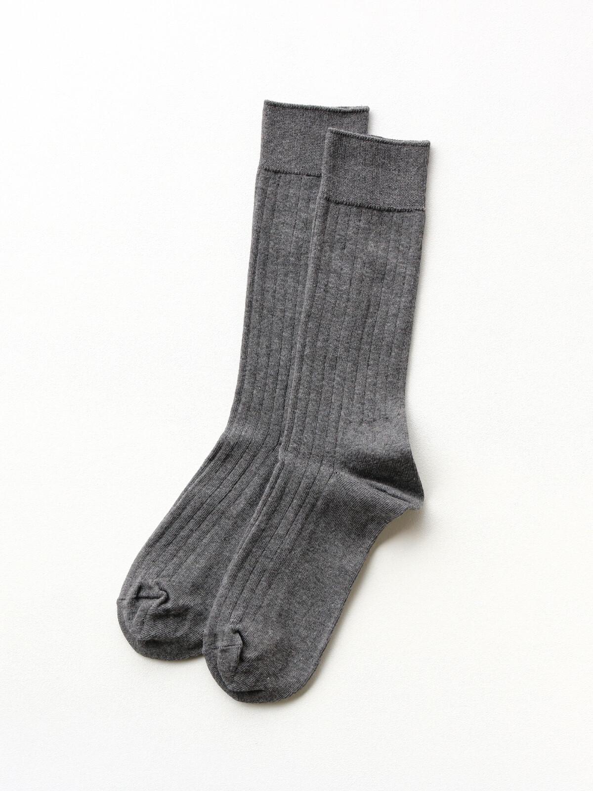 当たりつきギフト専用靴下のLUCKY SOCKS(ラッキーソックス)のLight Rib Socks(ライトリブソックス)のダークグレー_2