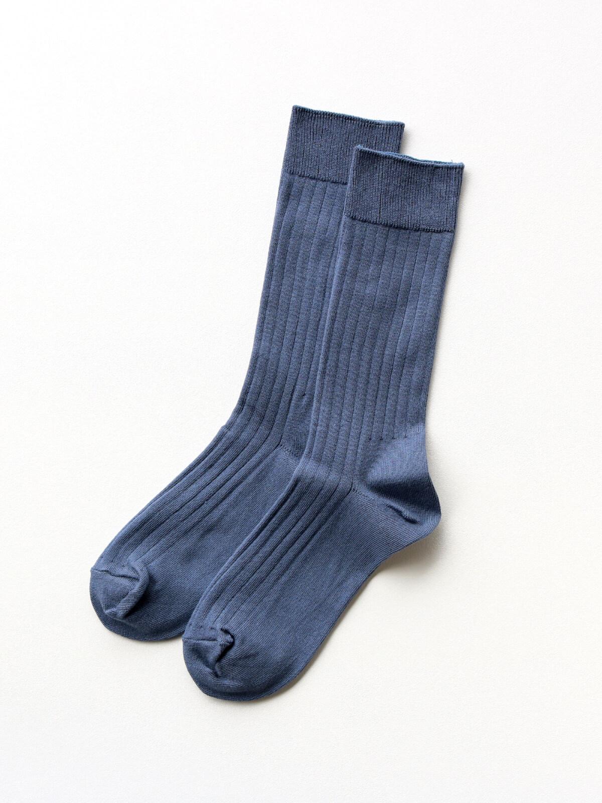 当たりつきギフト専用靴下のLUCKY SOCKS(ラッキーソックス)のLight Rib Socks(ライトリブソックス)のインディゴ_2