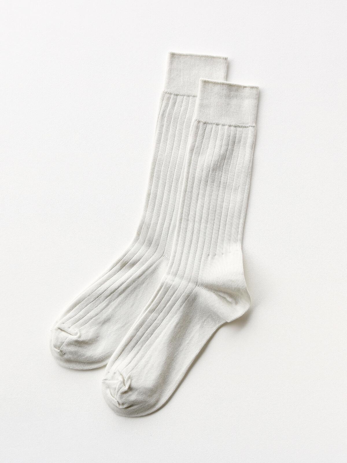 当たりつきギフト専用靴下のLUCKY SOCKS(ラッキーソックス)のLight Rib Socks(ライトリブソックス)のアイボリー_2