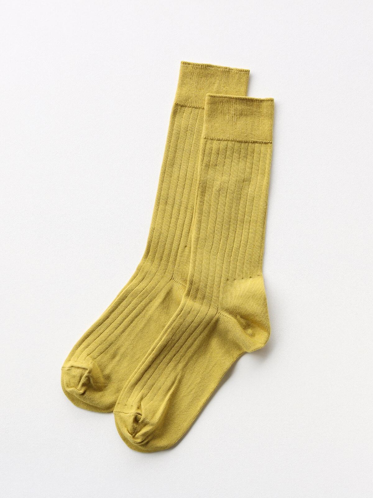 当たりつきギフト専用靴下のLUCKY SOCKS(ラッキーソックス)のLight Rib Socks(ライトリブソックス)のライムイエロー_2