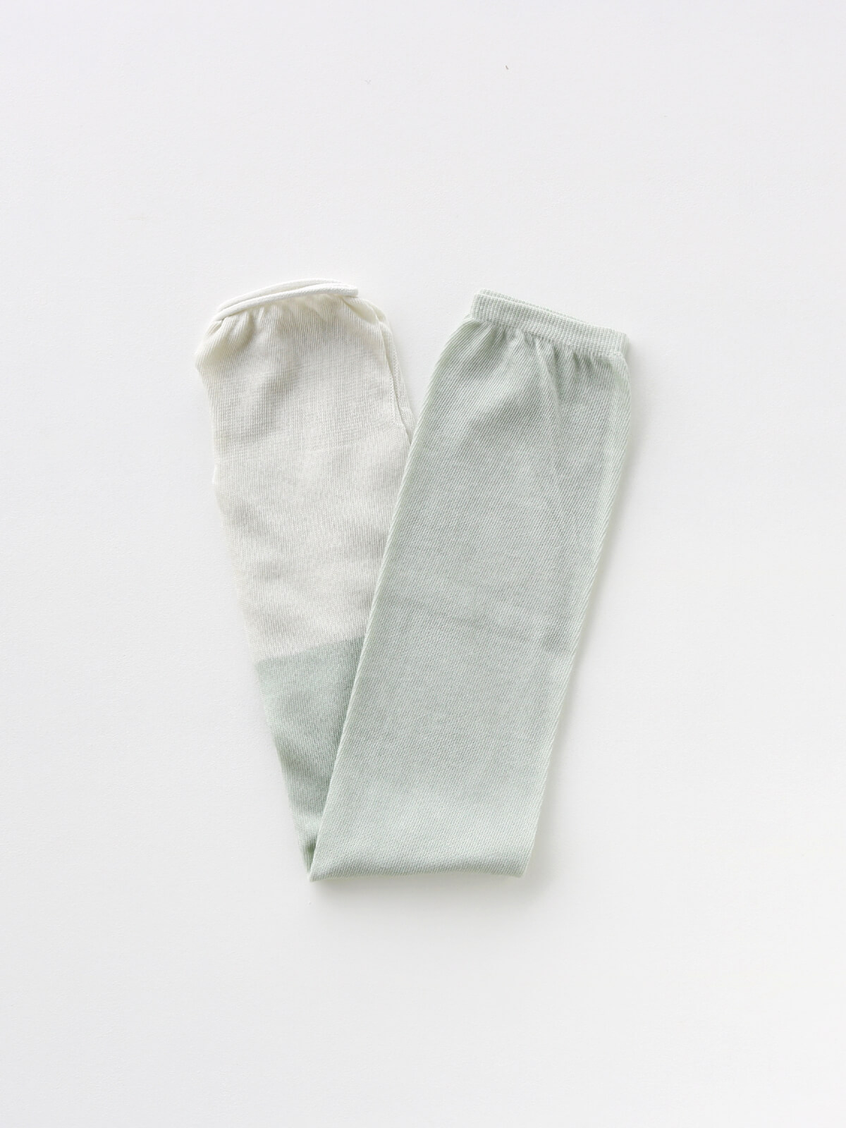 当たりつきギフト専用靴下のLUCKY SOCKS(ラッキーソックス)のSunscreen 2tone Armcover(サンスクリーン2トーンアームカバー)のペールミント×ミスト_2