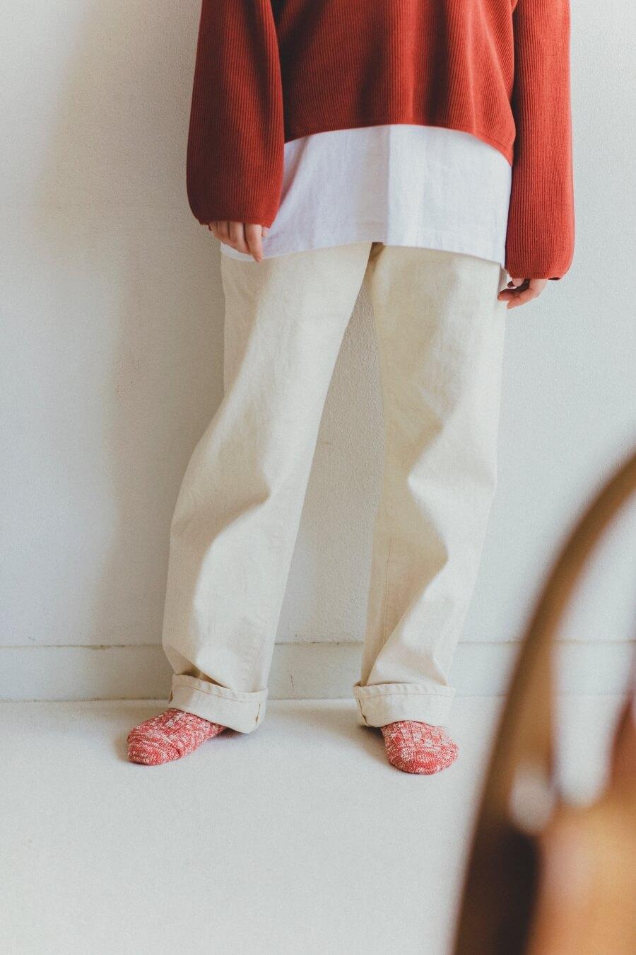 当たりつきギフト専用靴下のLUCKY SOCKS(ラッキーソックス)のMix Rib Socks(ミックスリブソックス)のブラッドオレンジ_image2