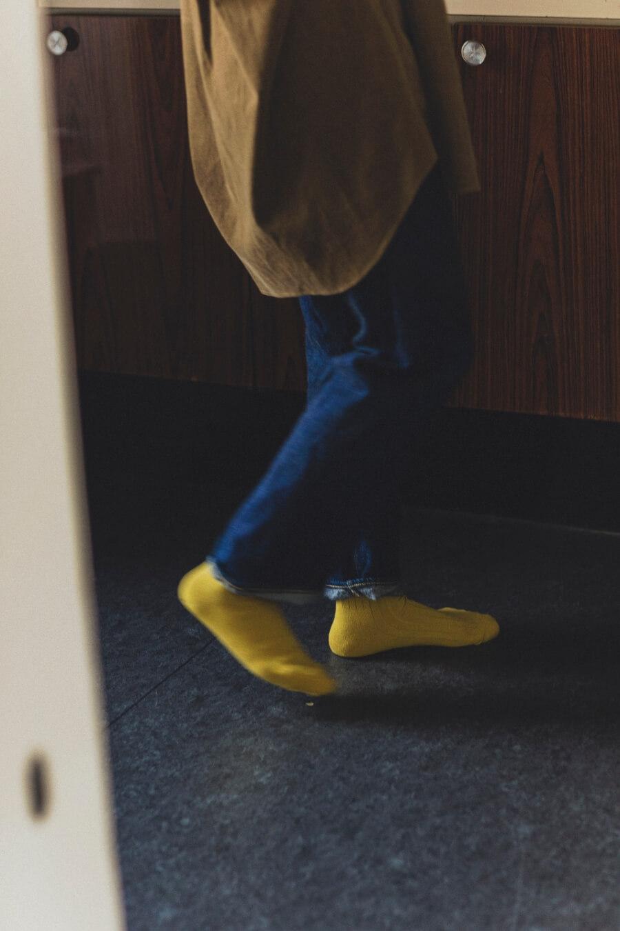 当たりつきギフト専用靴下のLUCKY SOCKS(ラッキーソックス)のLight Rib Socks(ライトリブソックス)のライムイエロー_image2