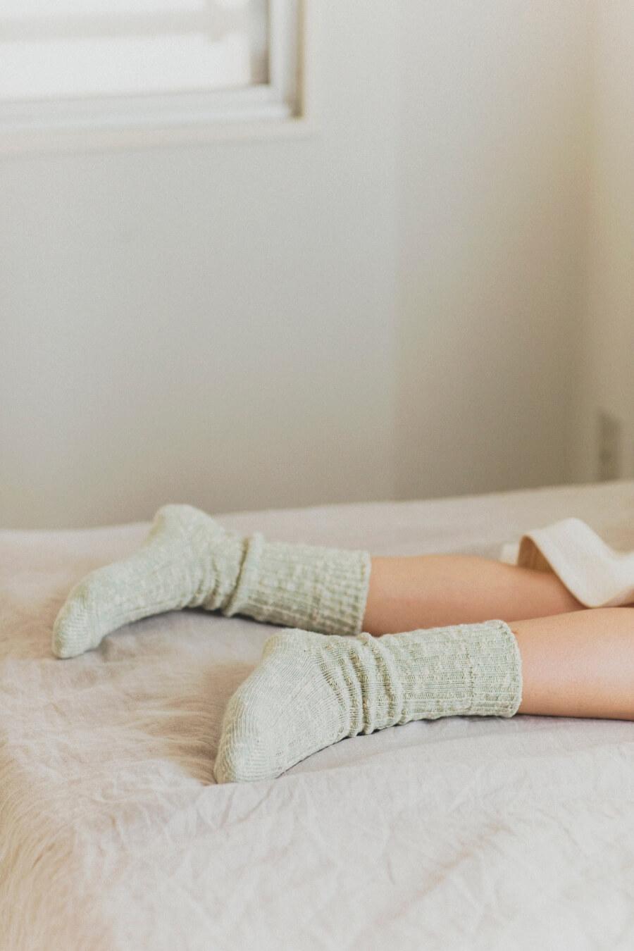 当たりつきギフト専用靴下のLUCKY SOCKS(ラッキーソックス)のMix Rib Socks(ミックスリブソックス)のペールミント_image2