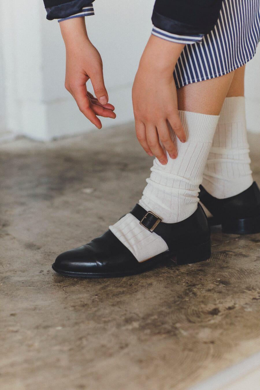 当たりつきギフト専用靴下のLUCKY SOCKS(ラッキーソックス)のLight Rib Socks(ライトリブソックス)のオフホワイト_image2