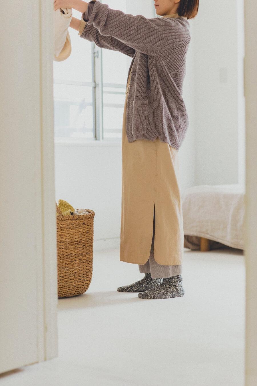 当たりつきギフト専用靴下のLUCKY SOCKS(ラッキーソックス)のMix Rib Socks(ミックスリブソックス)のダークグレー_image1