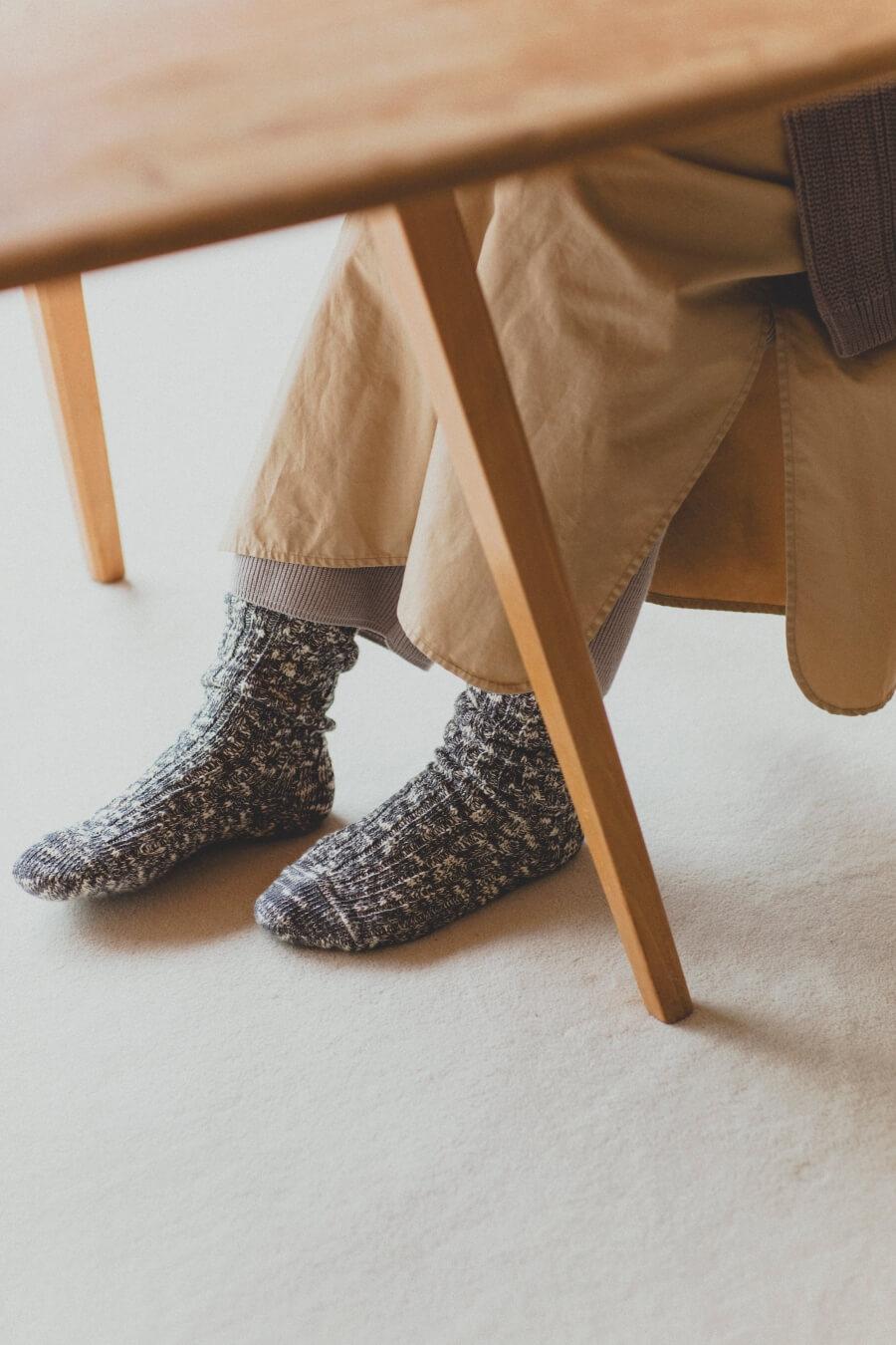 当たりつきギフト専用靴下のLUCKY SOCKS(ラッキーソックス)のMix Rib Socks(ミックスリブソックス)のダークグレー_image2