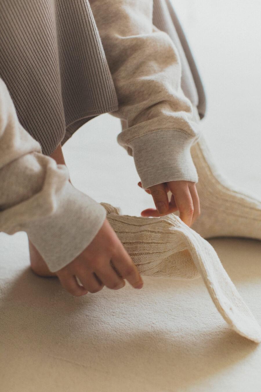 当たりつきギフト専用靴下のLUCKY SOCKS(ラッキーソックス)のMix Rib Socks(ミックスリブソックス)のオフホワイト_image2