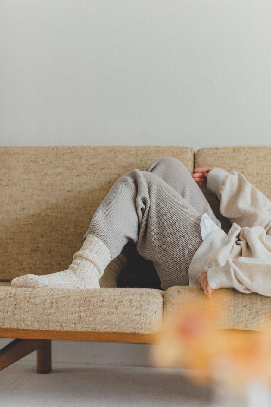 当たりつきギフト専用靴下のLUCKY SOCKS(ラッキーソックス)のMix Rib Socks(ミックスリブソックス)のオフホワイト_image1