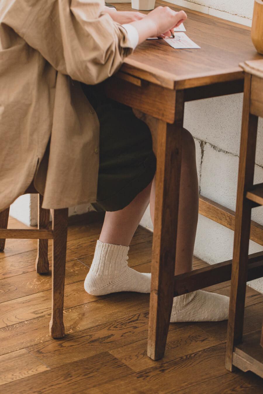 当たりつきギフト専用靴下のLUCKY SOCKS(ラッキーソックス)のMix Ankle Socks(ミックスアンクルソックス)のオフホワイト_image2