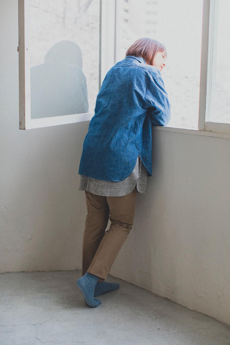 当たりつきギフト専用靴下のLUCKY SOCKS(ラッキーソックス)のSmooth Ankle Socks(スムースアンクルソックス)のスチールブルー_image2